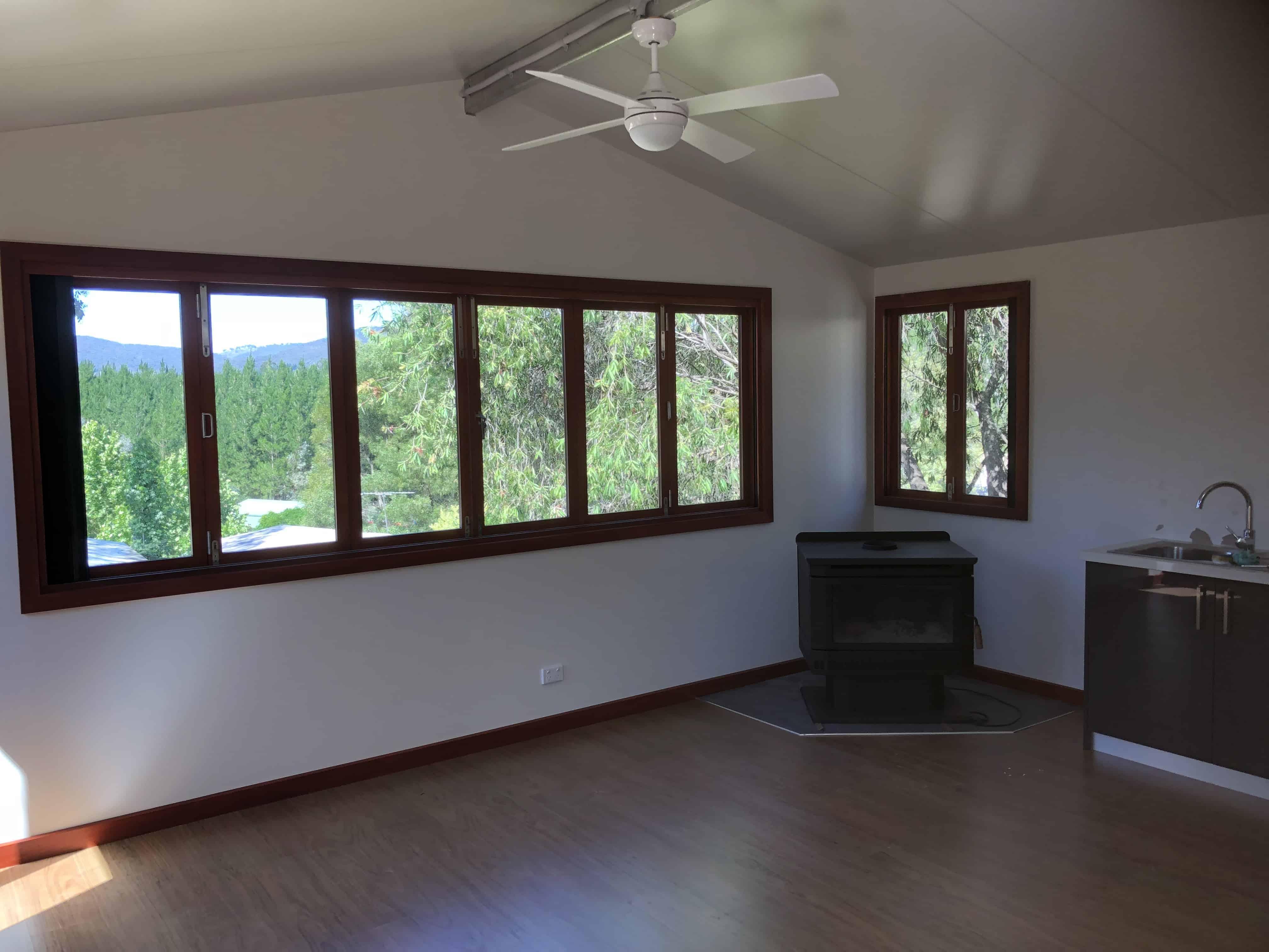 large bifold window corner
